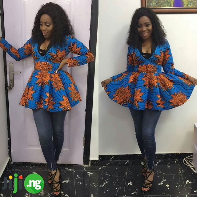 jeans mixed with ankara