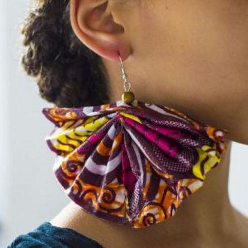 Ankara earrings and bangles