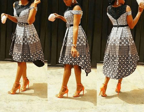 ankara short straight gowns