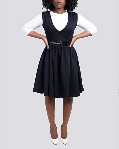 ladies pinafore style dress