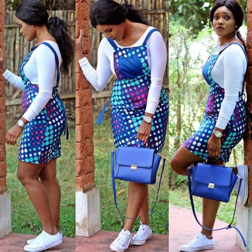 latest ankara pinafore dress