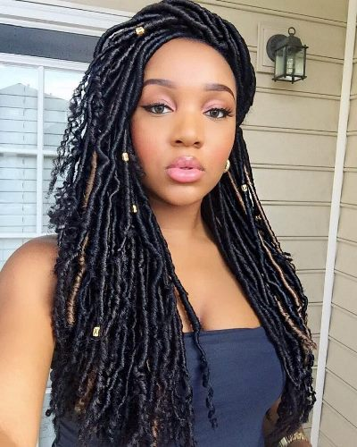 faux locs with marley hair