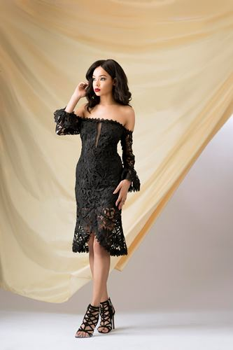 french lace gown styles