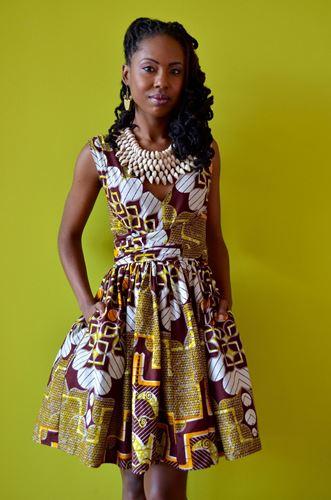 Ankara wrap dress styles
