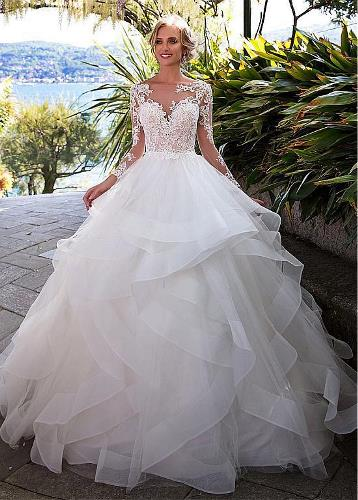 flowing wedding dresses