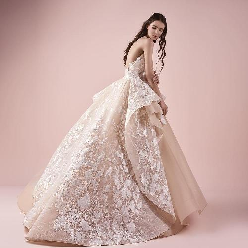 flowing chiffon gown