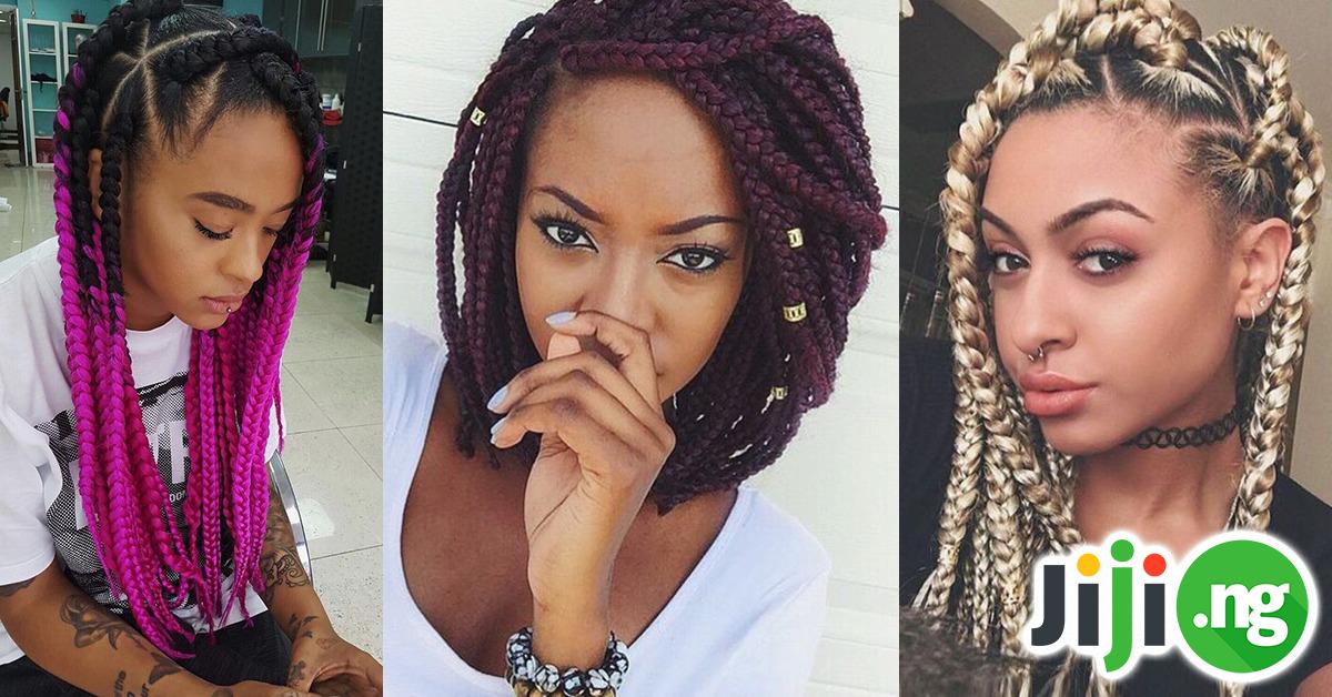 jumbo box braids styles