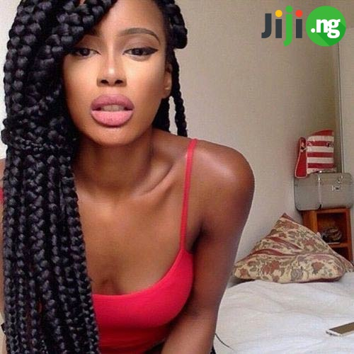 black jumbo box braids