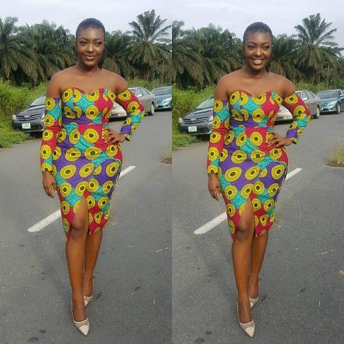 ankara straight dresses