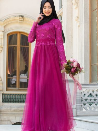 chiffon maxi dress with sleeves