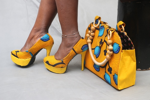 ankara shoes and bags designs