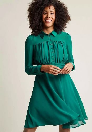 short chiffon dresses with sleeves