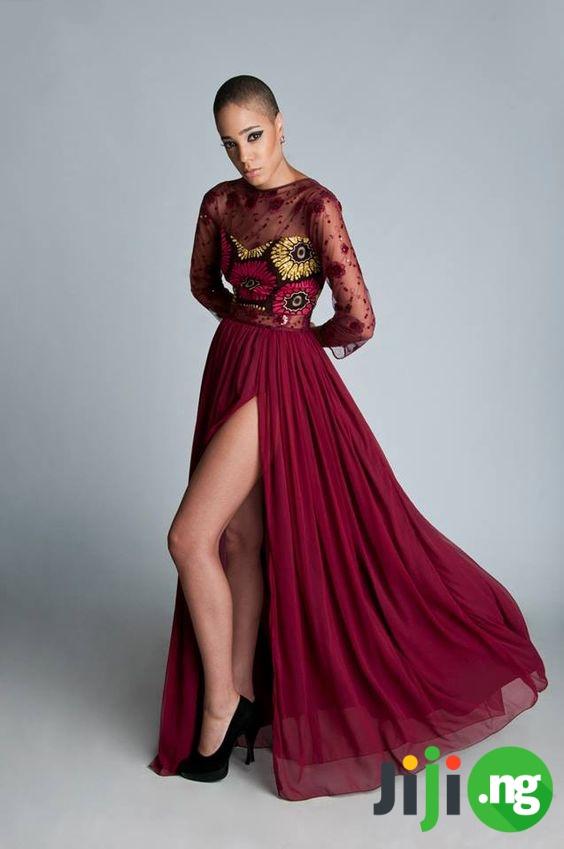 long chiffon gown