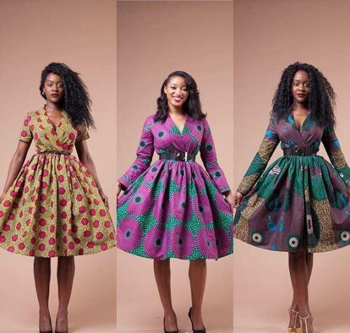 ankara flare dresses