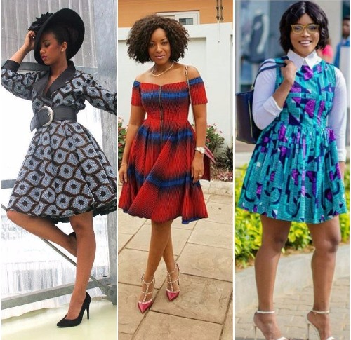 short flared dresses with sleeves