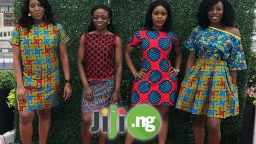 ankara short flare gowns