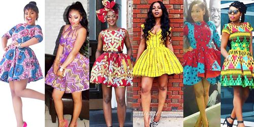 ankara flare gown styles