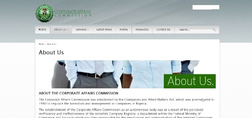What is corporate affairs commission