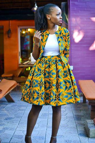ankara skirt suit styles