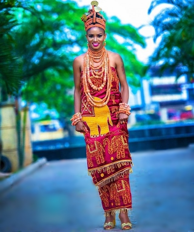 Esan traditional wedding attire