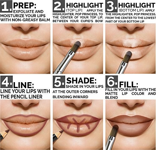 how to contour lips to look bigger