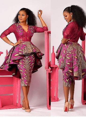 peplum gown styles