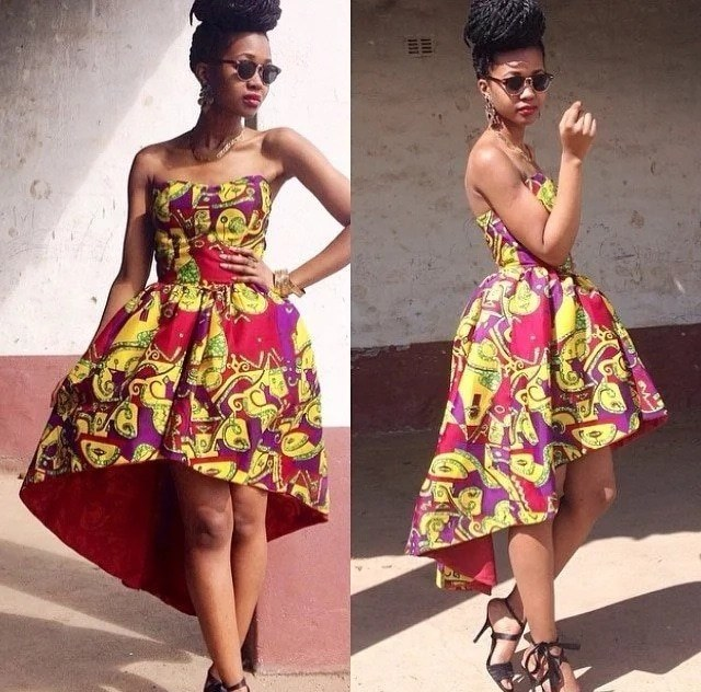 asymmetrical gowns in nigeria