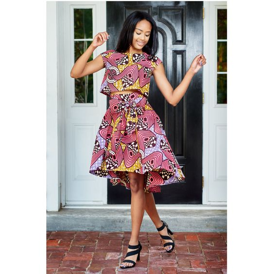 ankara high low dress