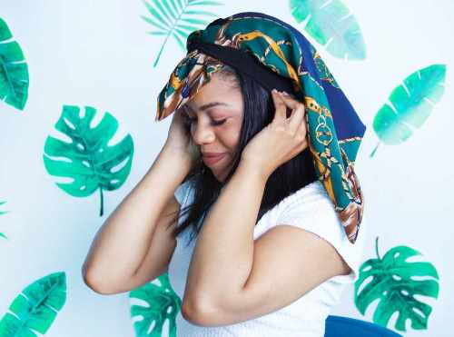 how to tie head scarf African style