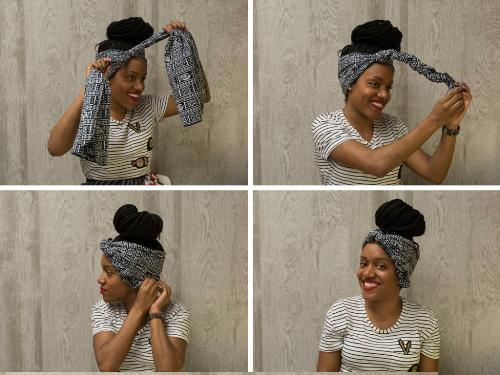 head wrap styles for short hair