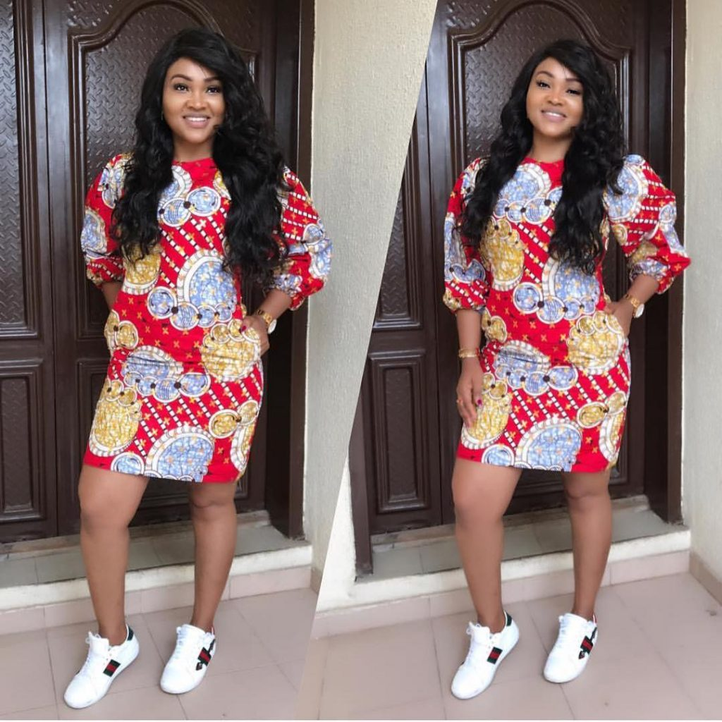 Ankara gowns with sneakers