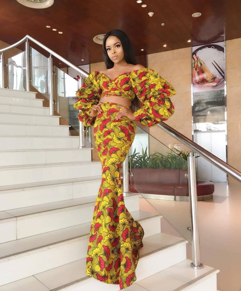 Ankara skirt and blouse for wedding