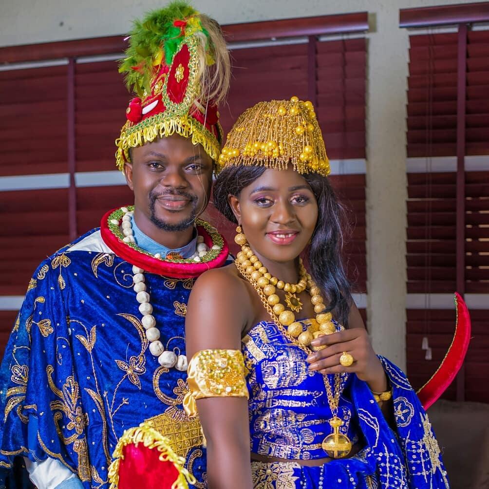 Traditional Kalabari wedding attire