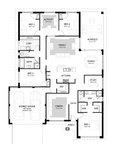 architectural design of 3 bedroom flat in Nigeria