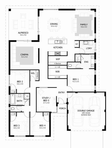 building plan for 3 bedroom flat in nigeria