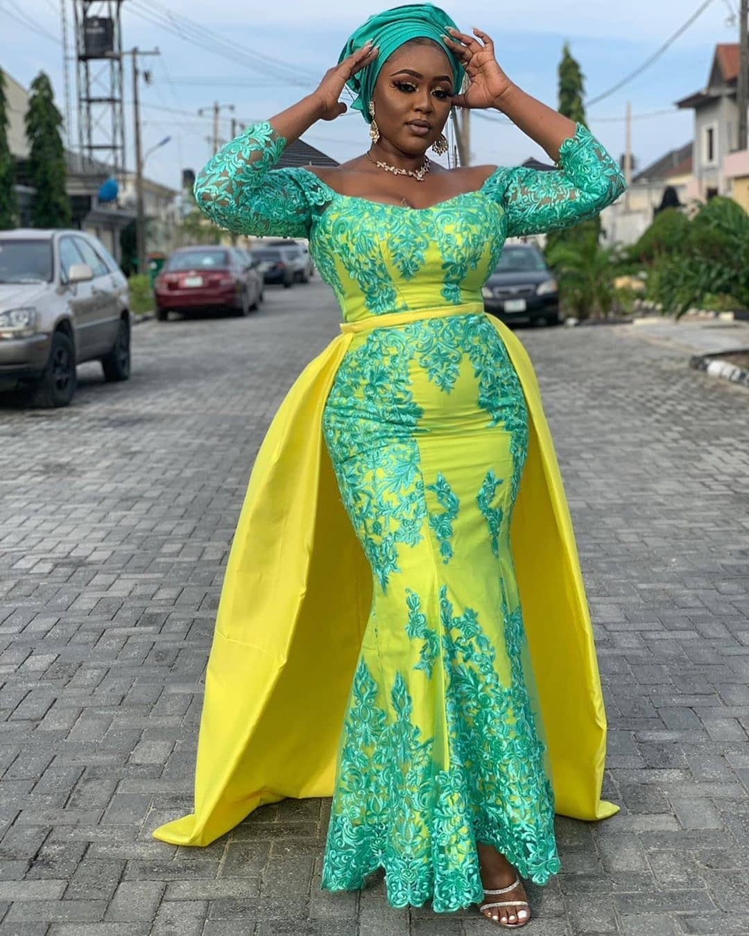Latest lace gown styles of summer 2019