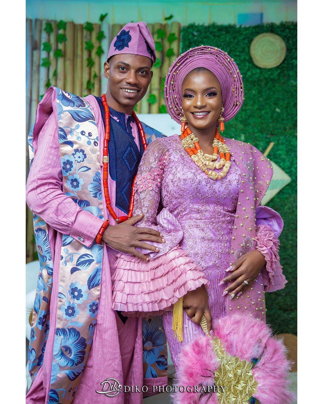 Yoruba Couple Traditional Wedding Attire Inspiration